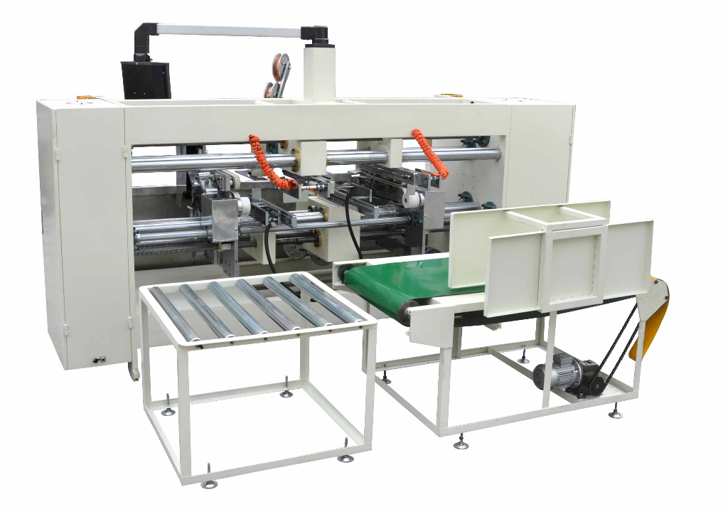 Double sheets carton stitching machine